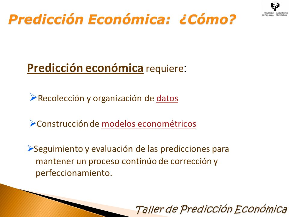 Predicción Económica: ¿Cómo