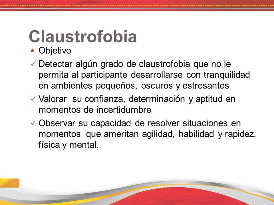 Claustrofobia Objetivo