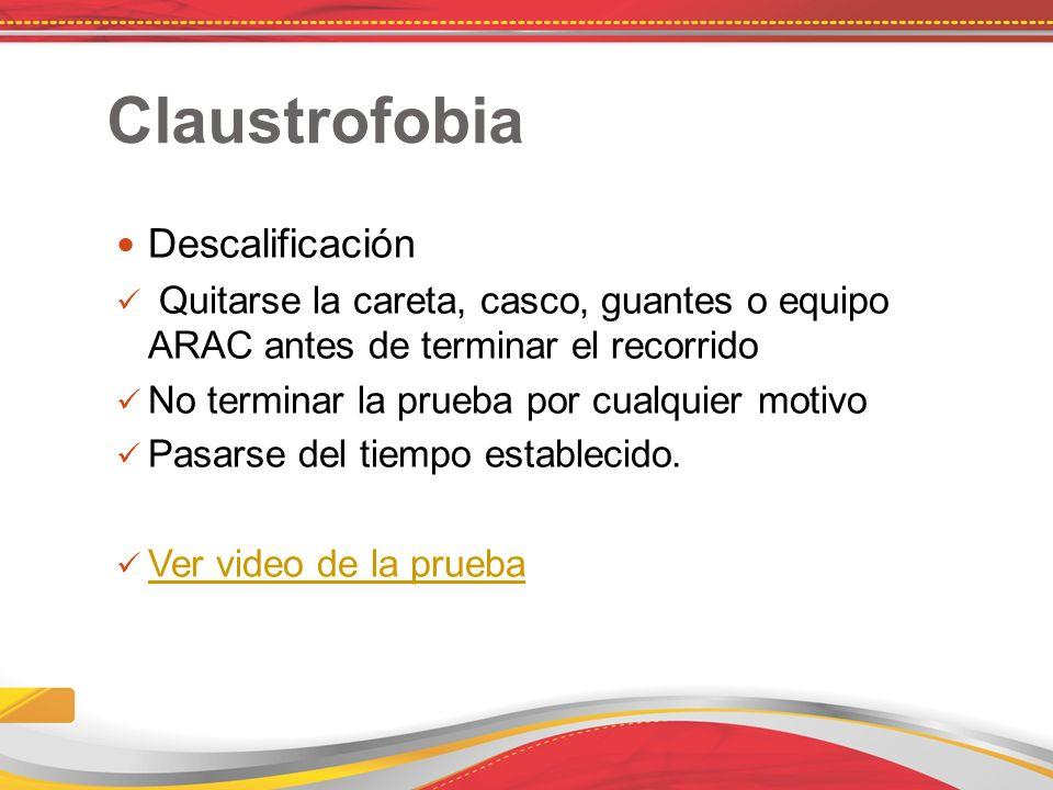 Claustrofobia Descalificación