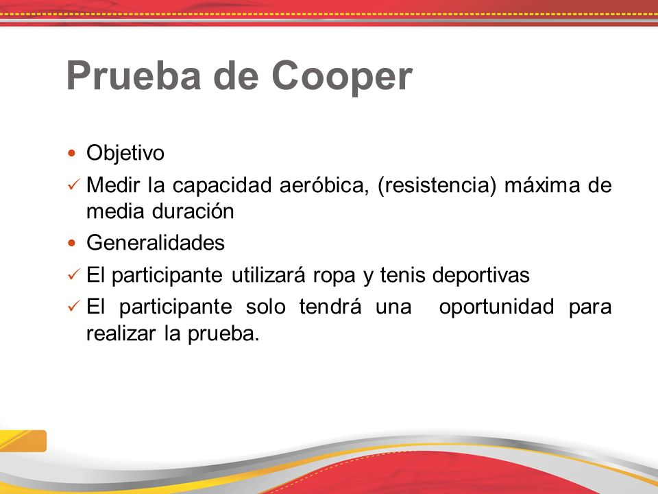 Prueba de Cooper Objetivo