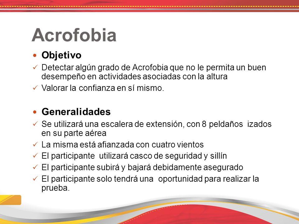 Acrofobia Objetivo Generalidades