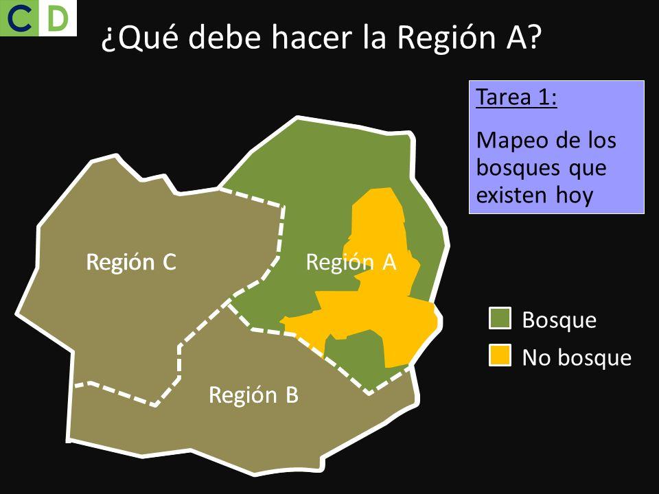 ¿Qué debe hacer la Región A