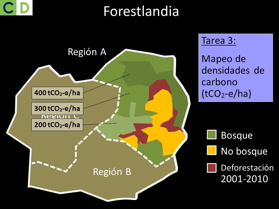 Forestlandia Tarea 3: Mapeo de densidades de carbono (tCO2-e/ha)