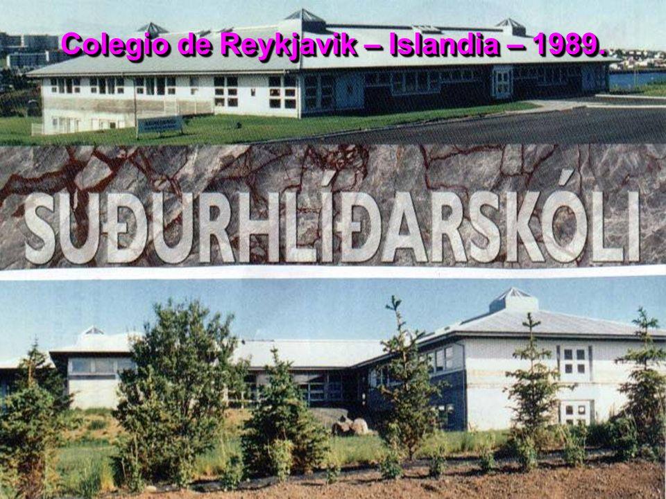 Colegio de Reykjavik – Islandia – 1989.