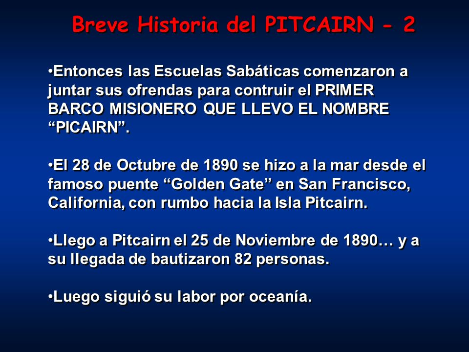 Breve Historia del PITCAIRN - 2