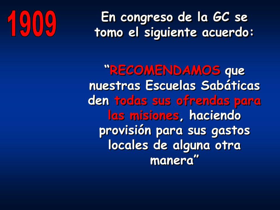 En congreso de la GC se tomo el siguiente acuerdo: