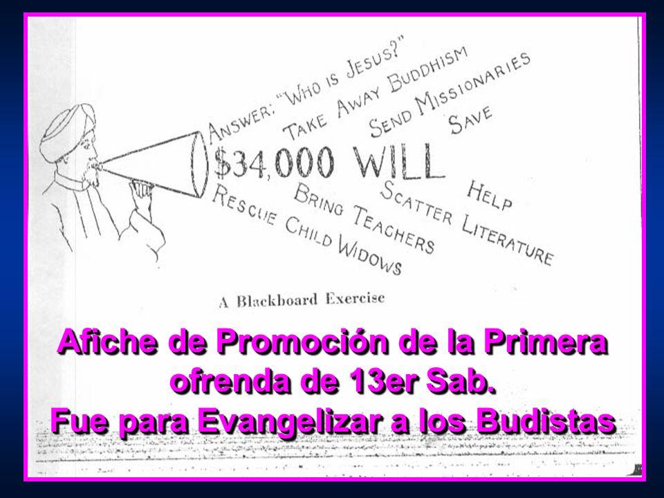 Afiche de Promoción de la Primera ofrenda de 13er Sab