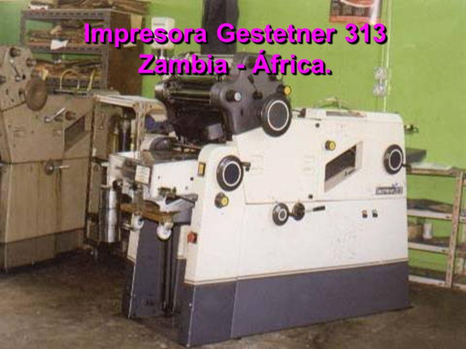 Impresora Gestetner 313 Zambia - África.