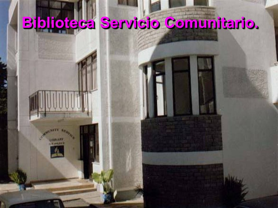 Biblioteca Servicio Comunitario.