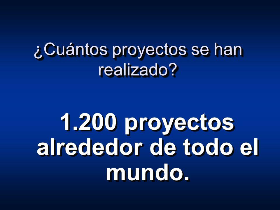 ¿Cuántos proyectos se han realizado