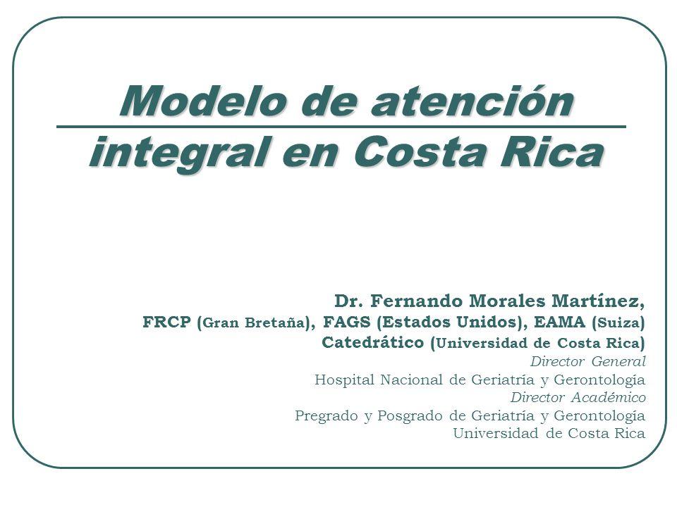 Modelo de atención integral en Costa Rica