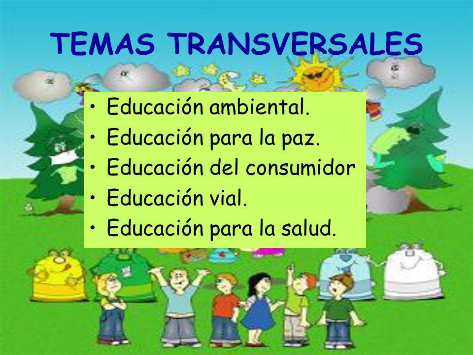 TEMAS TRANSVERSALES Educación ambiental. Educación para la paz.