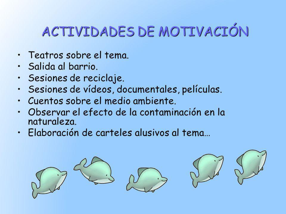 ACTIVIDADES DE MOTIVACIÓN