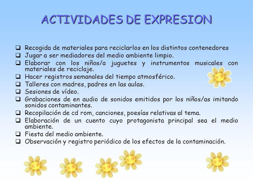 ACTIVIDADES DE EXPRESION
