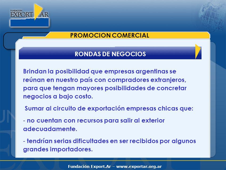 PROMOCION COMERCIAL RONDAS DE NEGOCIOS.