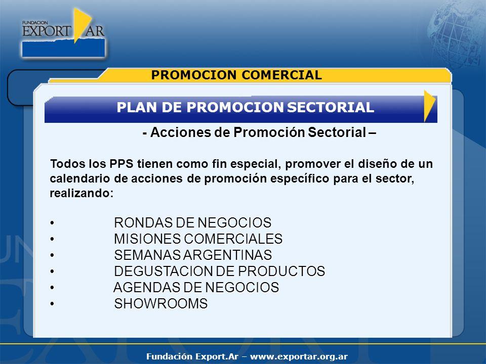 PLAN DE PROMOCION SECTORIAL