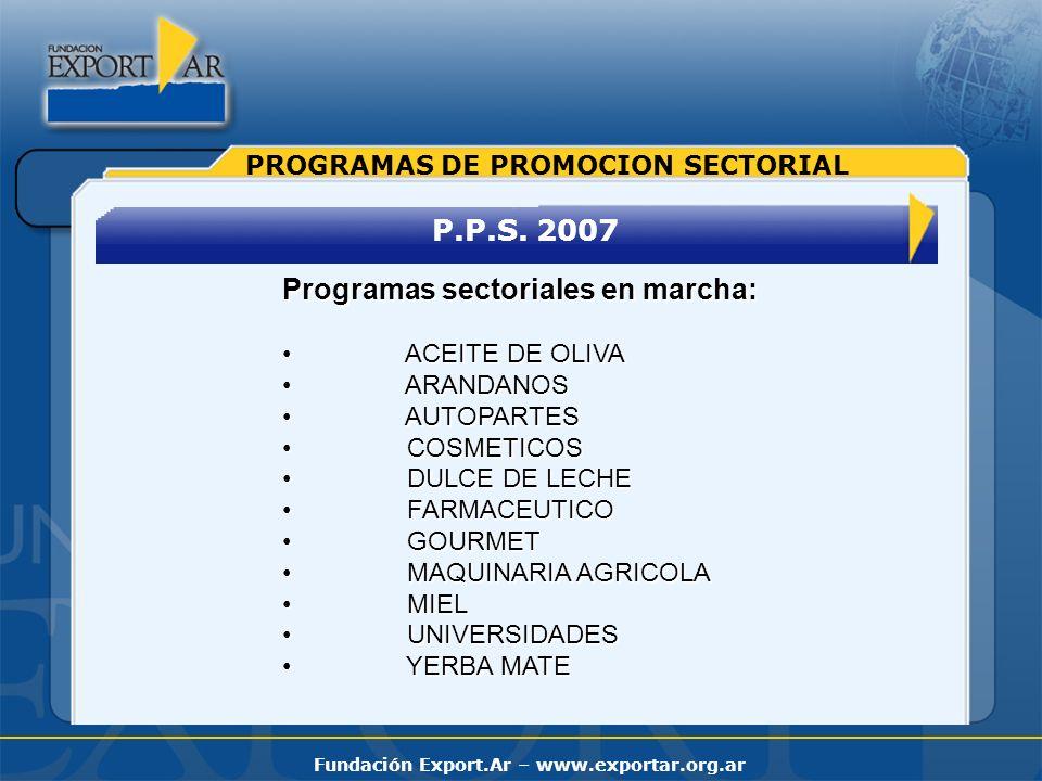 Programas sectoriales en marcha: