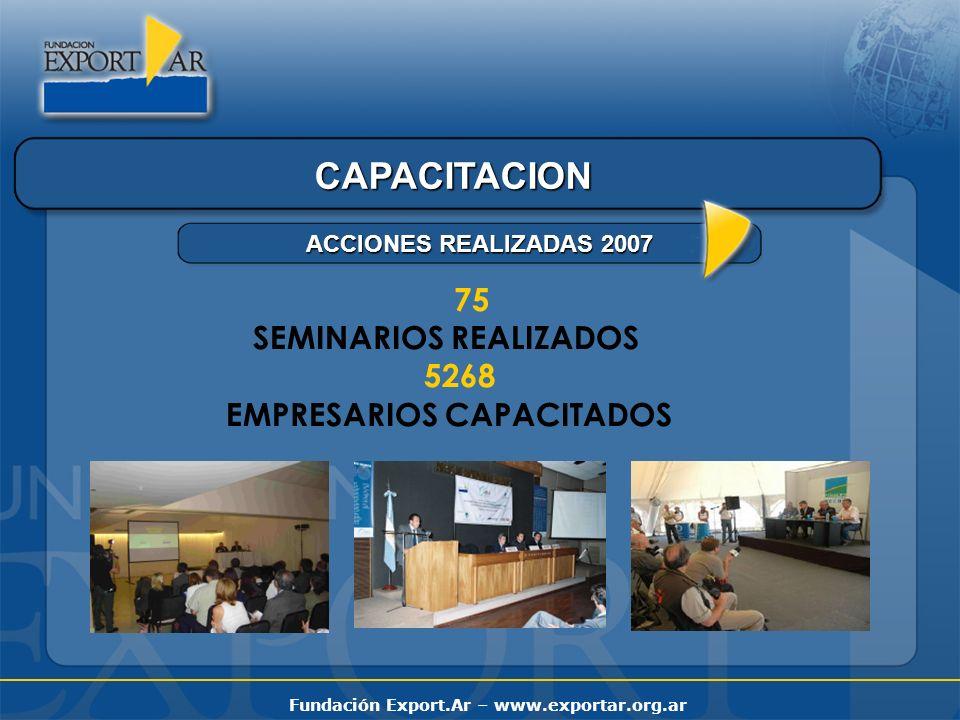 CAPACITACION 75 SEMINARIOS REALIZADOS 5268 EMPRESARIOS CAPACITADOS