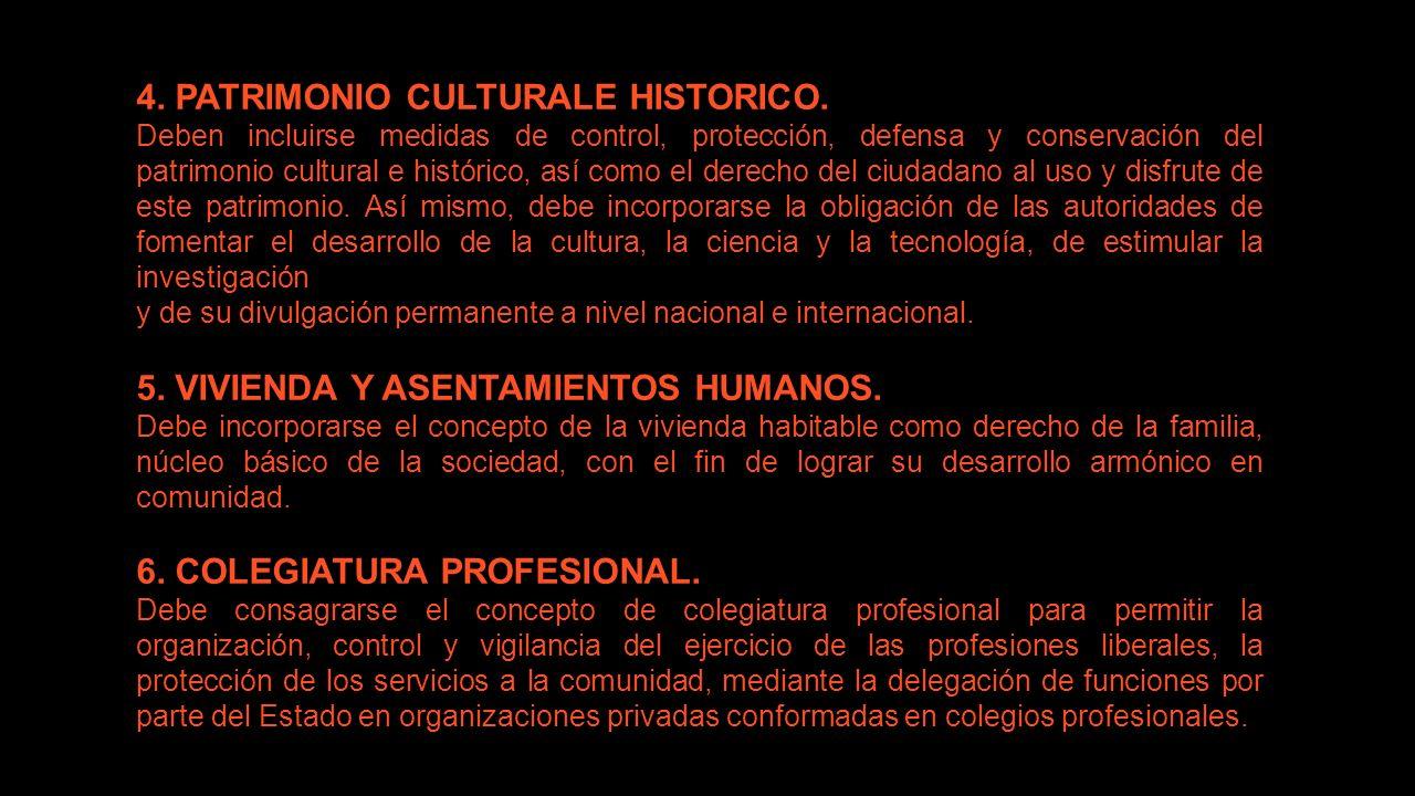 4. PATRIMONIO CULTURALE HISTORICO.