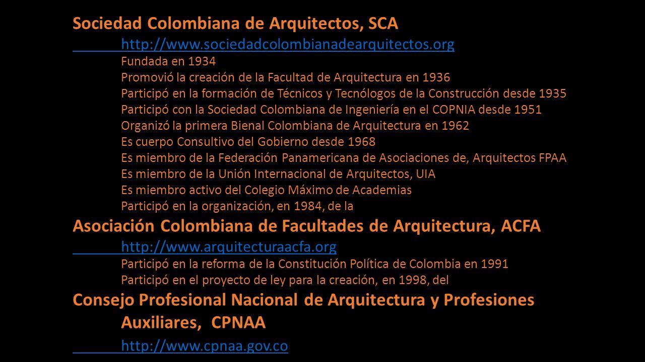 Sociedad Colombiana de Arquitectos, SCA