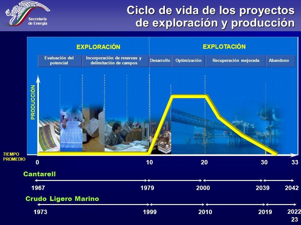 Ciclo de vida de los proyectos de exploración y producción