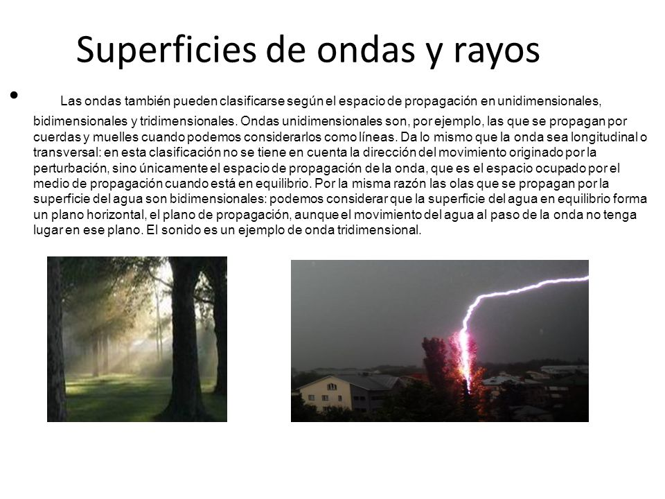 Superficies de ondas y rayos
