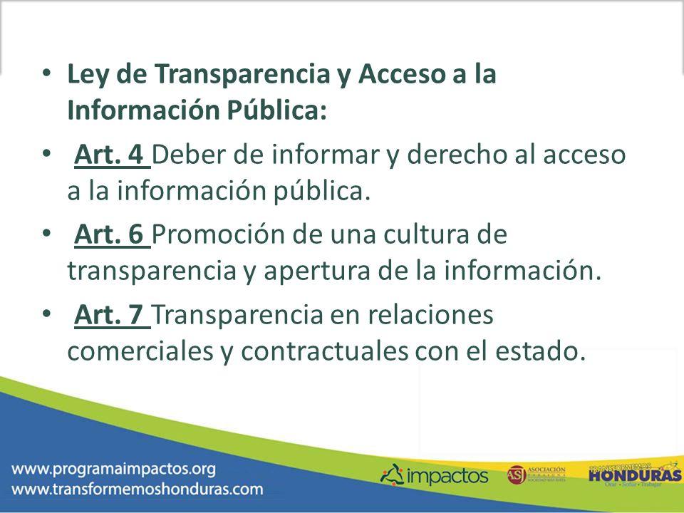 Ley de Transparencia y Acceso a la Información Pública: