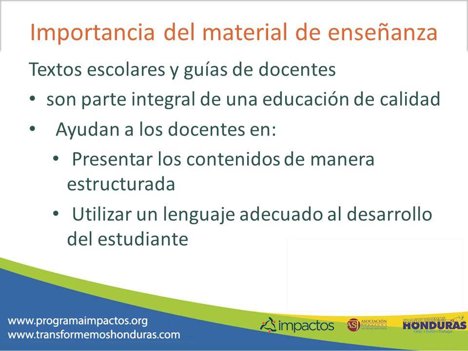 Importancia del material de enseñanza