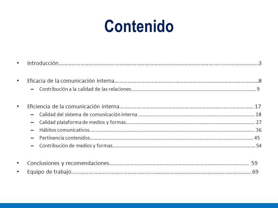 Contenido Introducción…………………………………………………………………………………………………......…………………..3. Eficacia de la comunicación interna………………………………………………….………………………………….…8.