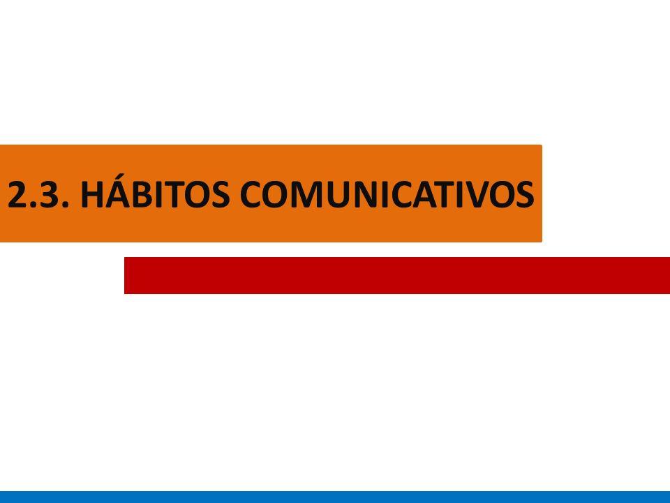 2.3. HÁBITOS COMUNICATIVOS