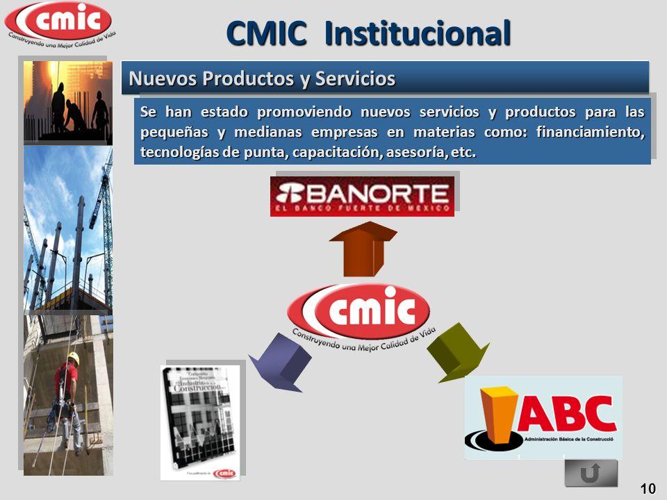 CMIC Institucional Nuevos Productos y Servicios