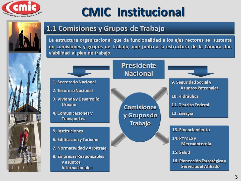 Comisiones y Grupos de Trabajo
