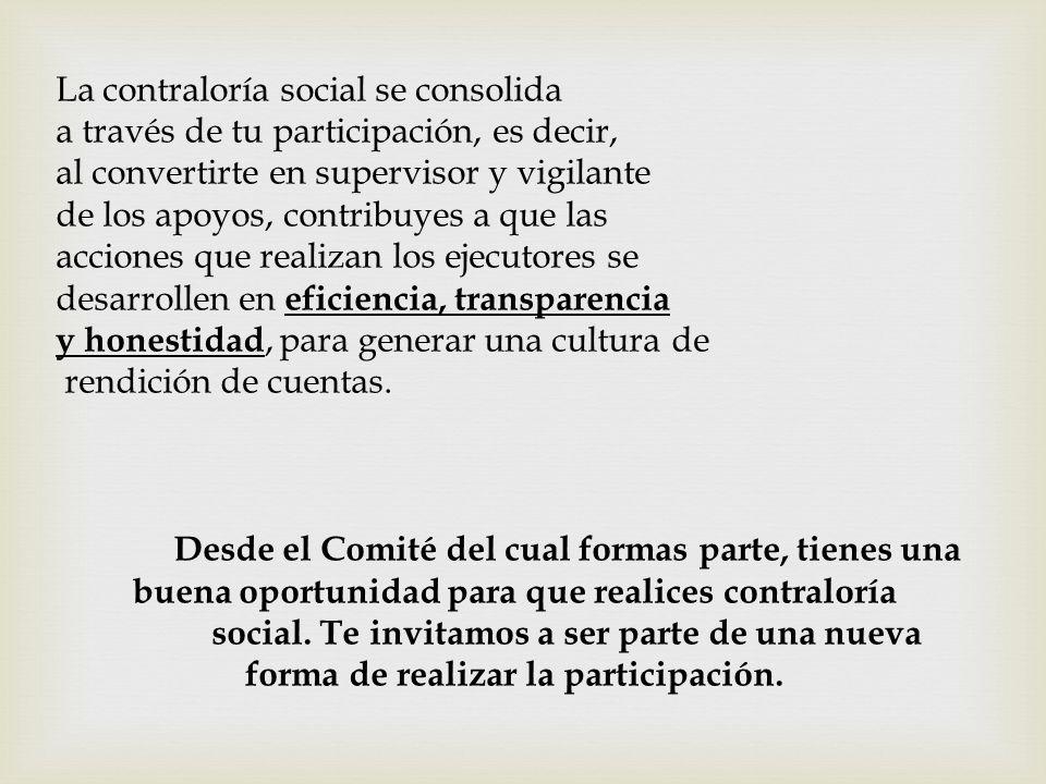 La contraloría social se consolida