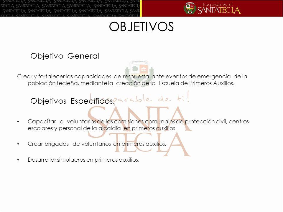 OBJETIVOS Objetivo General Objetivos Específicos.