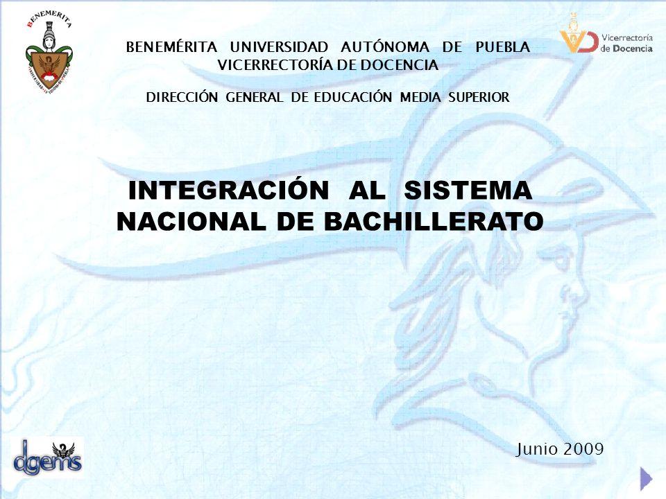 INTEGRACIÓN AL SISTEMA NACIONAL DE BACHILLERATO