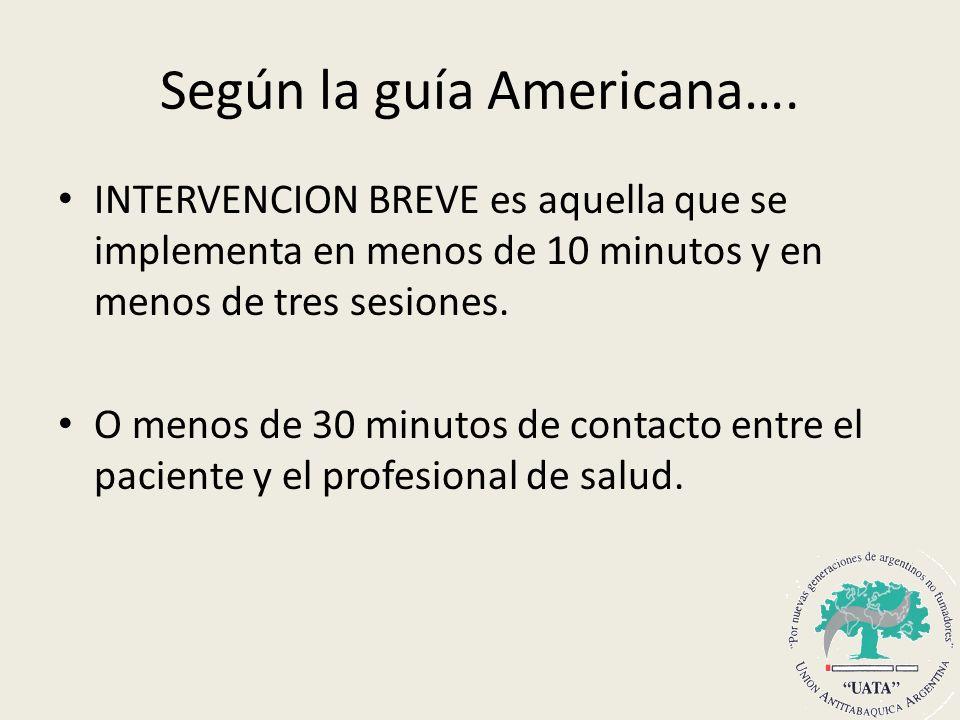 Según la guía Americana….