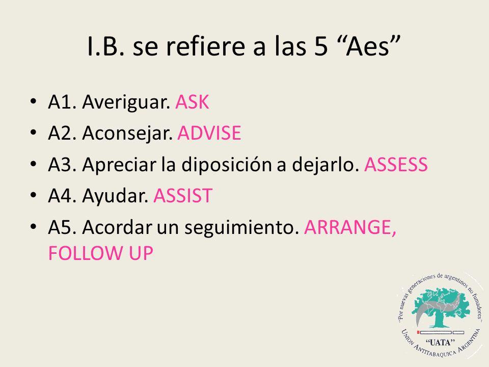 I.B. se refiere a las 5 Aes