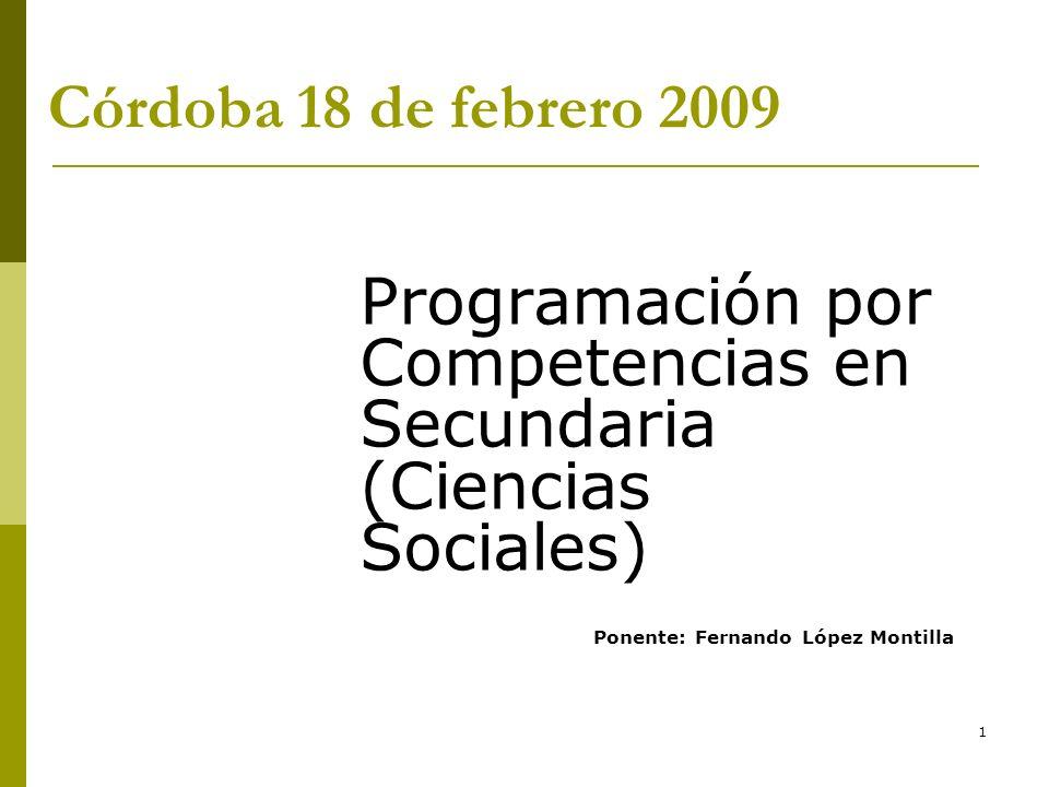 Programación por Competencias en Secundaria (Ciencias Sociales)