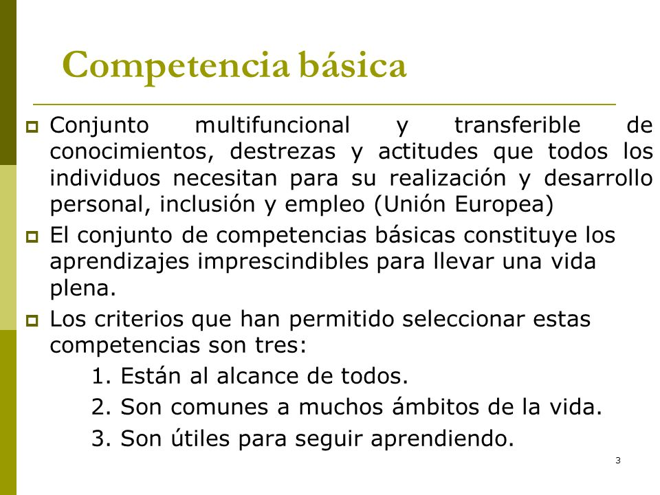 * 16/07/96. Competencia básica.