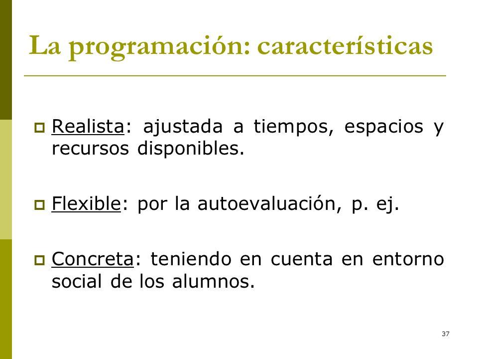 La programación: características
