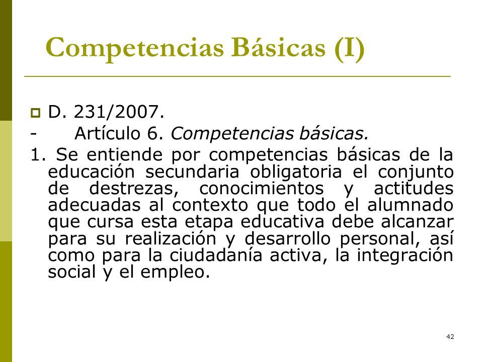 Competencias Básicas (I)