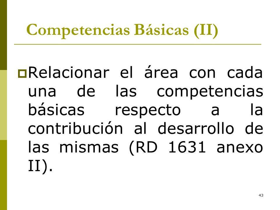 Competencias Básicas (II)