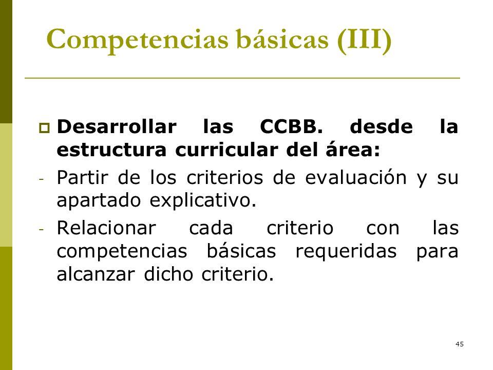 Competencias básicas (III)