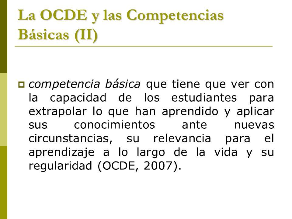 La OCDE y las Competencias Básicas (II)