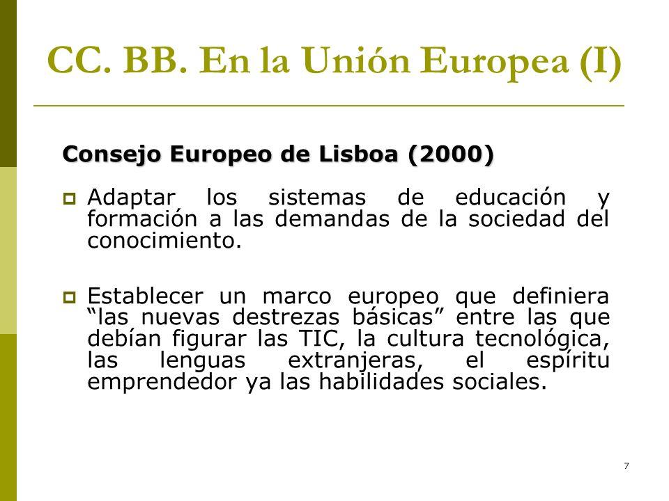 CC. BB. En la Unión Europea (I)
