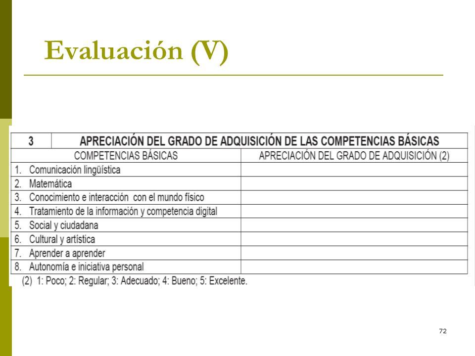 * 16/07/96 Evaluación (V) *