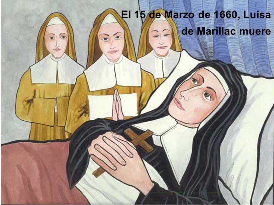 El 15 de Marzo de 1660, Luisa de Marillac muere