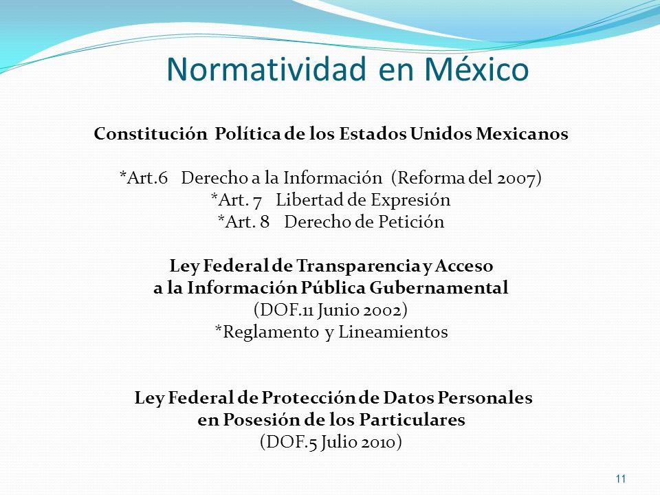 Normatividad en México