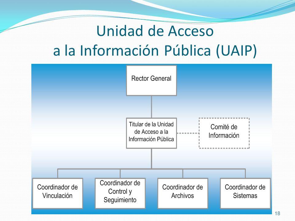 Unidad de Acceso a la Información Pública (UAIP)
