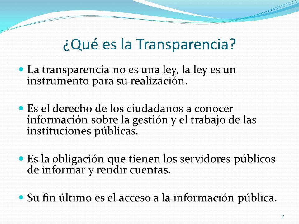 ¿Qué es la Transparencia